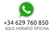 Whatsapp Asemega: +34 629 760 850 - Horario de oficina
